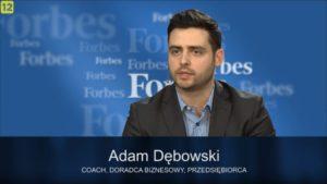 Adam Dębowski w czasie wywiadu w Forbes